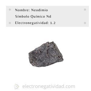electronegatividad del neodinio