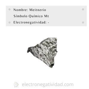 electronegatividad del meitnerio