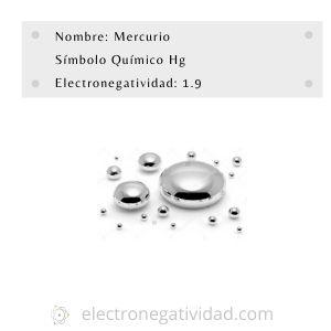 electronegatividas del mercurio
