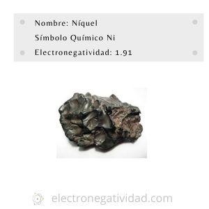 electronegatividad del niquel