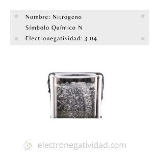electronegatividad del nitrógeno