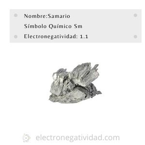 electronegatividad del samario