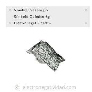 electronegatividad del seaborgio
