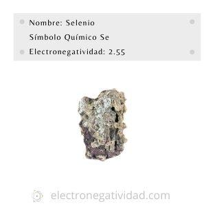 electronegatividad del selenio