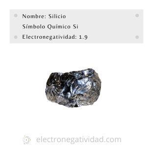 electronegatividad del silicio