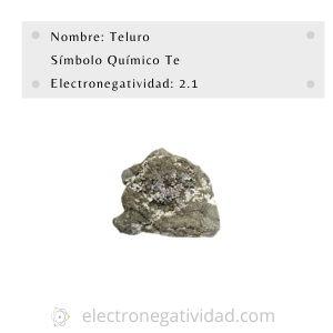Electronegativdad del teluro