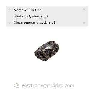 electronegatividad del platino