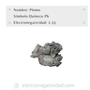 electronegatividad del plomo
