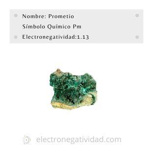 electronegatividad del prometio