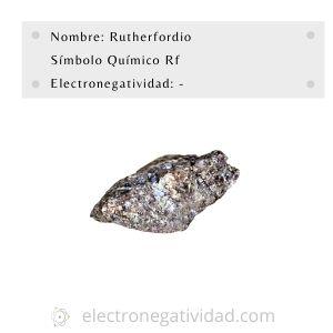 electronegatividad del rutherfordio